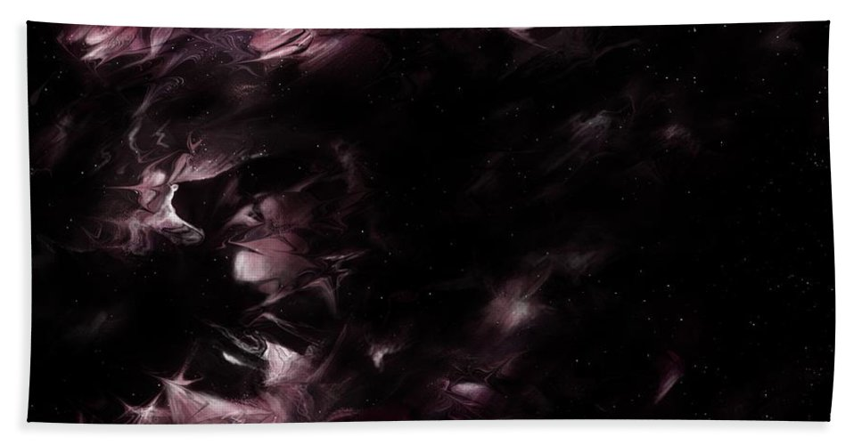 Abstract Beach Towel featuring the digital art Rulers Of The Night by Rachel Christine Nowicki