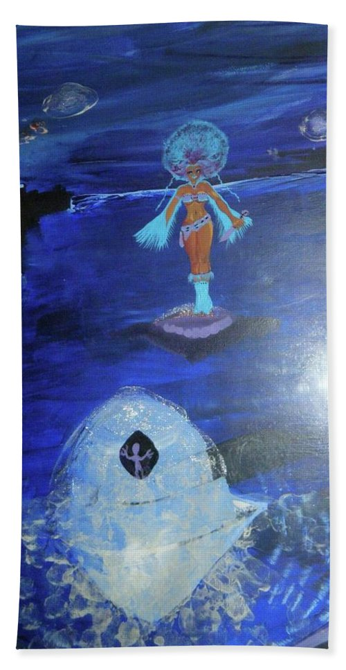 Beach Towel featuring the painting Run by Subbora Jackson