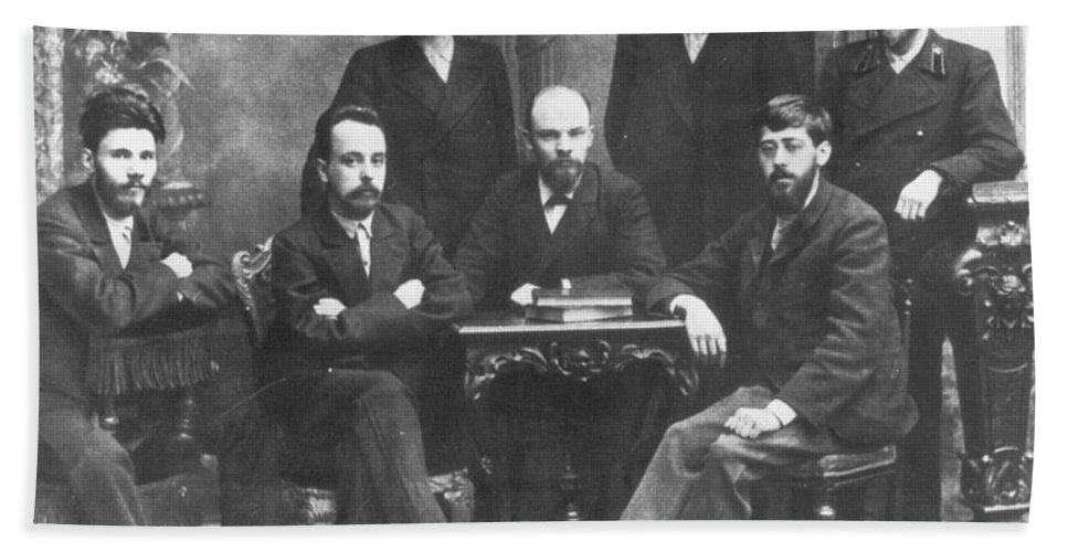 1897 Beach Towel featuring the photograph Russian Marxists, 1897 by Granger