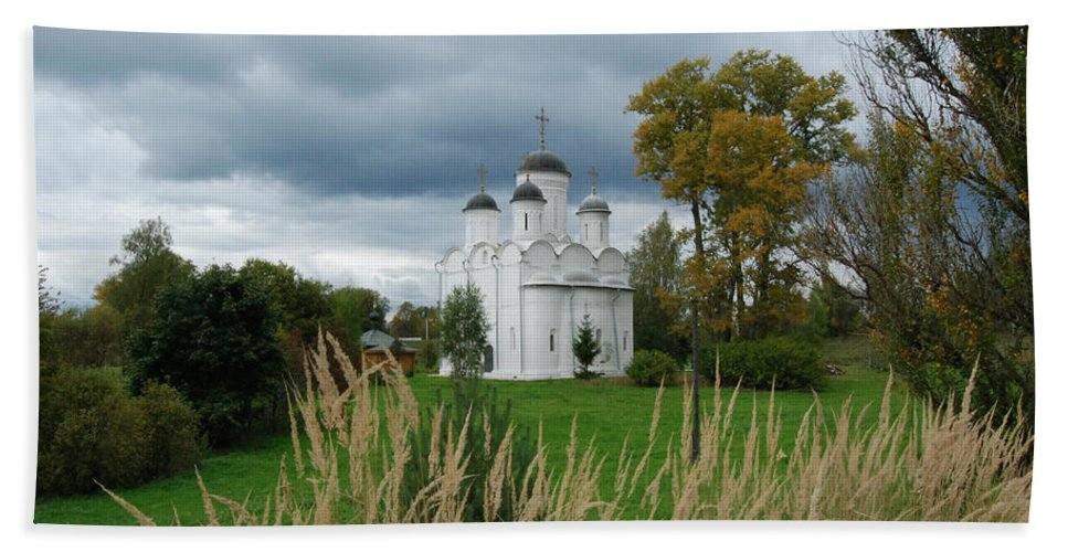 Antiquities Beach Towel featuring the photograph Russian Orthodox Church by Sergei Dolgov