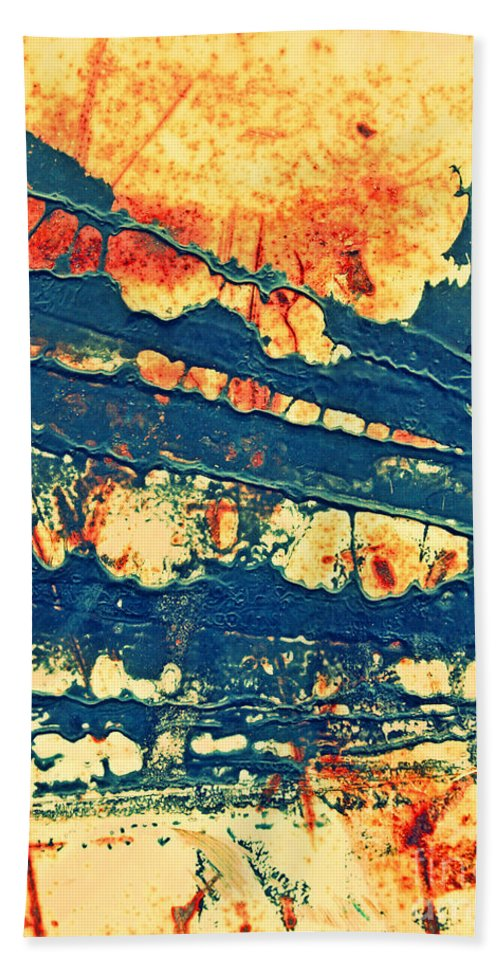 Macro Beach Towel featuring the photograph Rust And Lace by Tara Turner