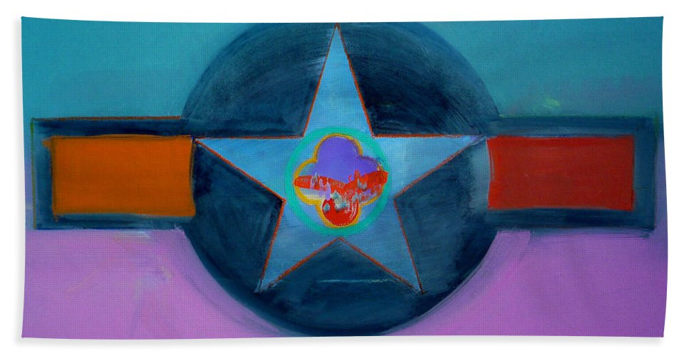 Star Beach Towel featuring the painting Rust Or Bust by Charles Stuart