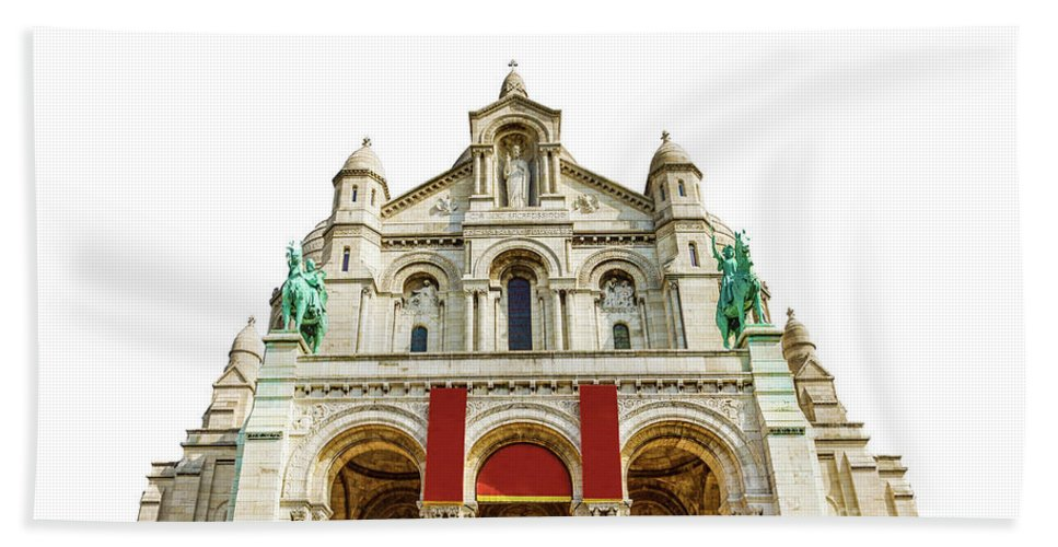 Paris Beach Towel featuring the photograph Sacre Coeur Basilica by Benny Marty