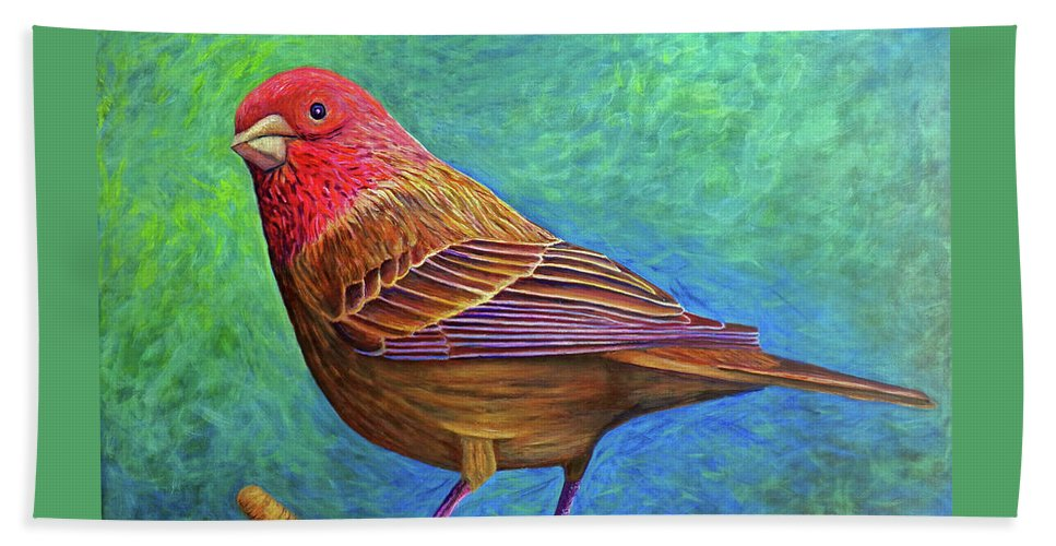 Bird Beach Sheet featuring the painting Sacred Space by Brian Commerford