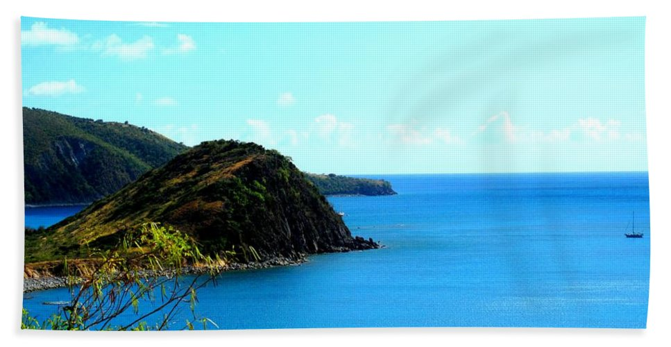 St Kitts Beach Towel featuring the photograph Safe Harbor by Ian MacDonald