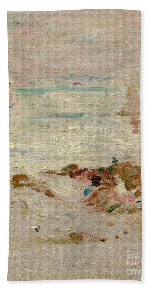 Sailboats Beach Sheet featuring the painting Sailboats by Berthe Morisot