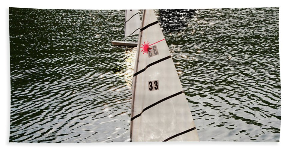 Sailboats Beach Towel featuring the photograph Sailboats In Central Park by Madeline Ellis