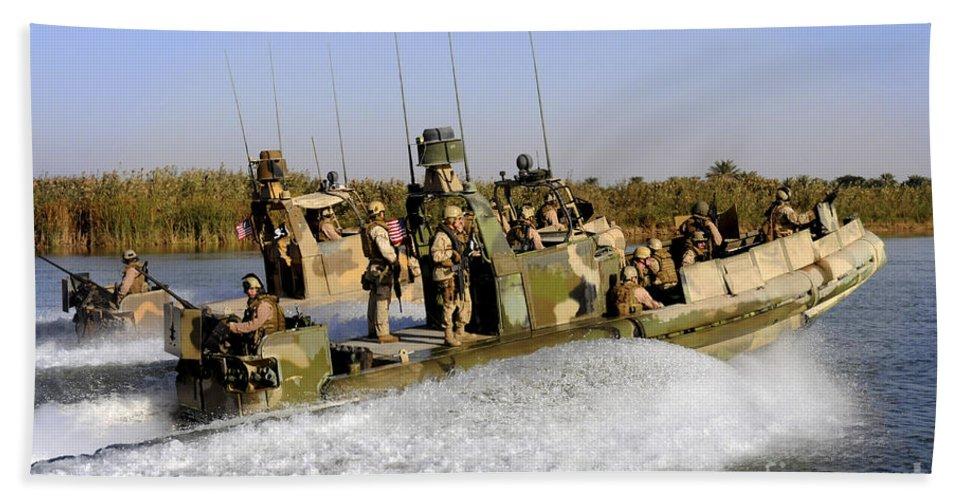 Iraq Beach Towel featuring the photograph Sailors Racing Along The Euphrates by Stocktrek Images