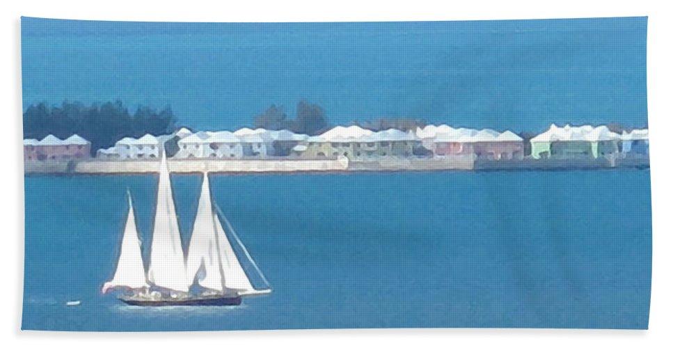 Sailboat Beach Towel featuring the photograph Sails In Bermuda by Ian MacDonald