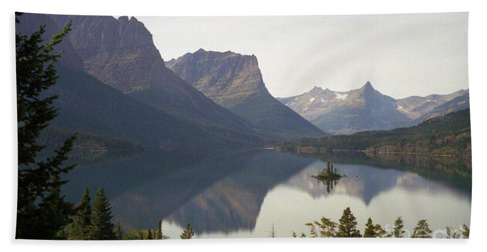 Lake Beach Sheet featuring the photograph Saint Marys Lake by Richard Rizzo