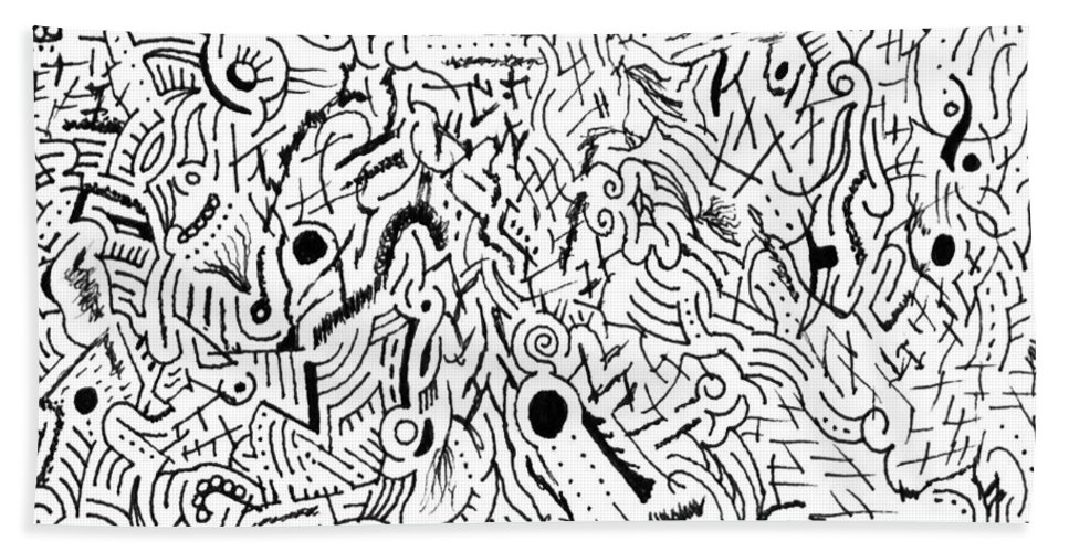 Mazes Beach Towel featuring the drawing Salacity by Steven Natanson