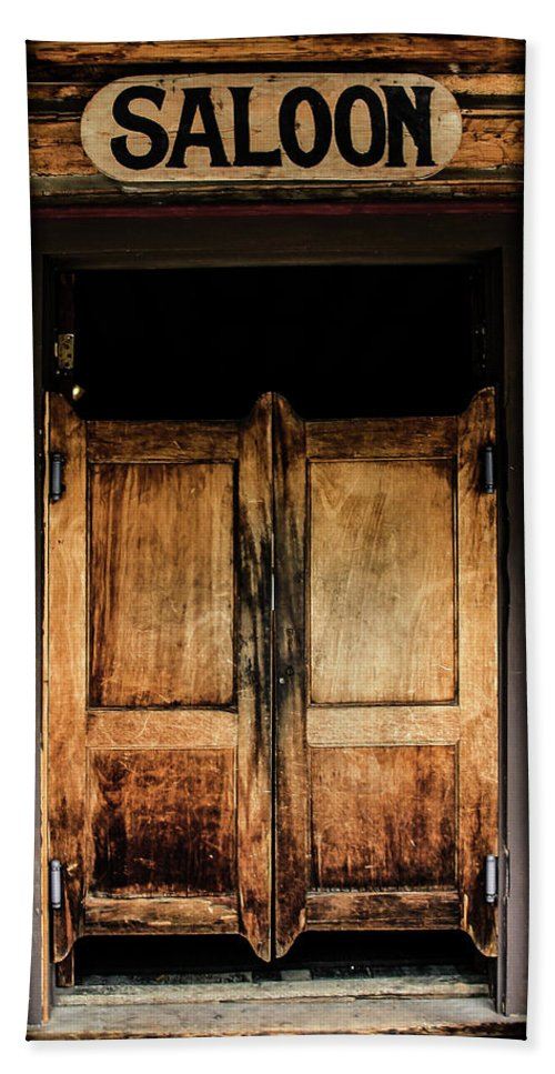 Saloon Beach Towel Featuring The Photograph Saloon Doors By Athena Mckinzie
