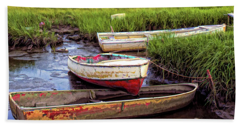 Williamsburg Virginia Marsh Beach Sheet featuring the photograph Salt Marsh by Richard Goldman