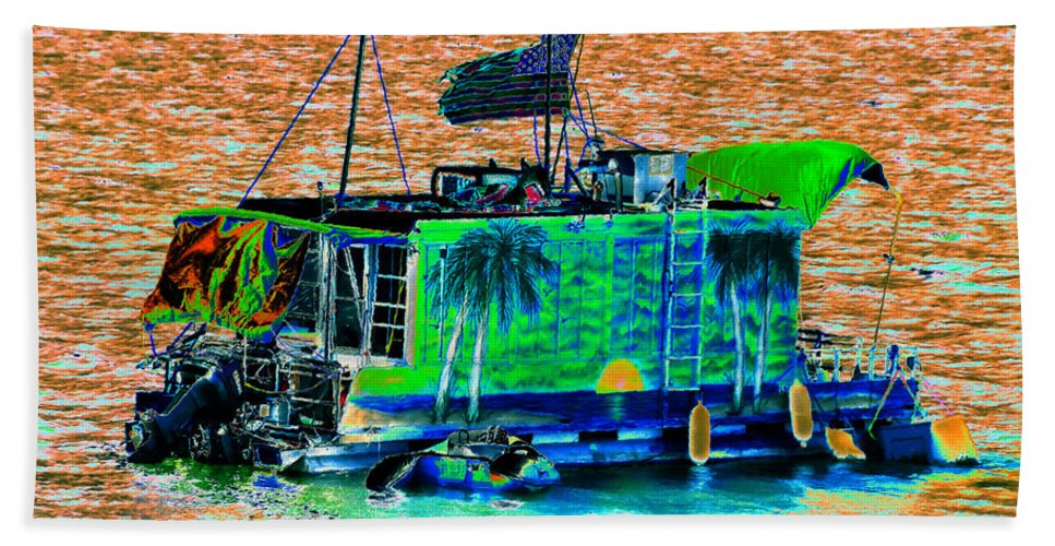 Art Beach Towel featuring the painting Salt Water Living by David Lee Thompson