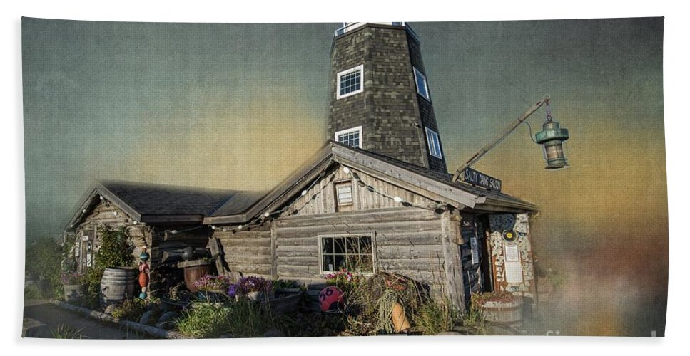 Salty Dawg Saloon Beach Towel featuring the photograph Salty Dawg Saloon by Eva Lechner