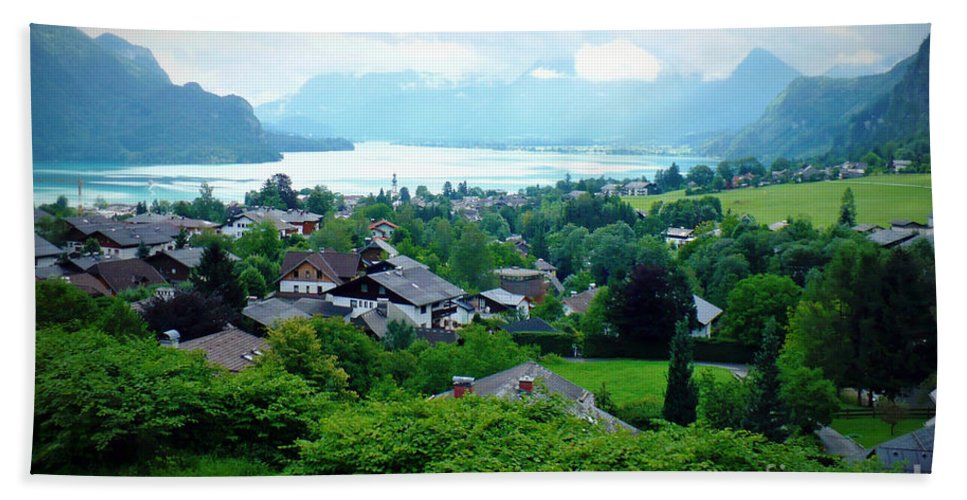 Austria Beach Towel featuring the photograph Salzburg Lake District by Carol Groenen