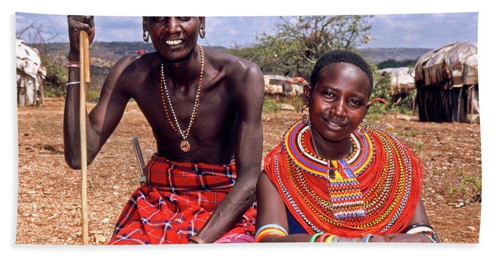Africa Beach Towel featuring the photograph Samburu Couple by Michele Burgess