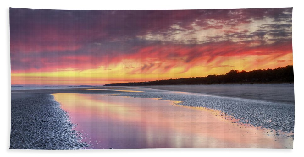 Beach Beach Towel featuring the photograph Same Night Six Fifteen by Phill Doherty