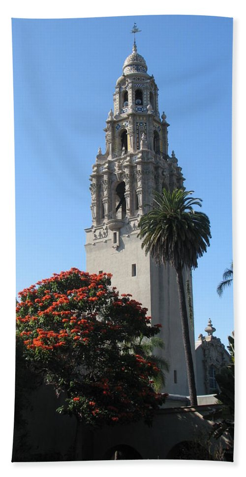 Architecture Beach Towel featuring the photograph San Diego by Sandra Bourret