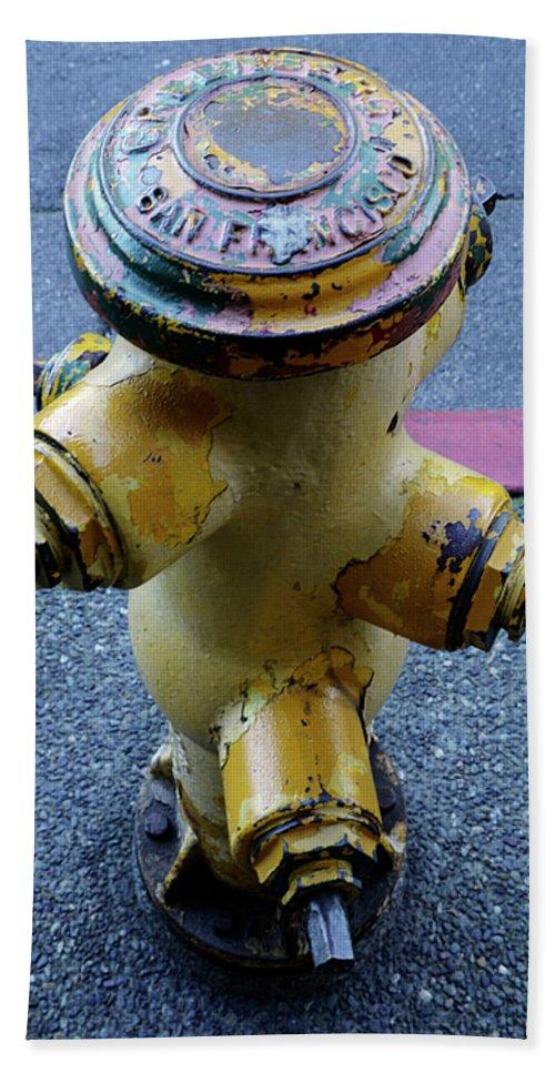 San Francisco Beach Towel featuring the photograph San Fran Hydrant by Bob Christopher