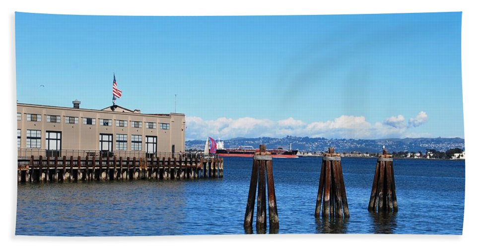 City Beach Towel featuring the photograph San Francisco Bay Trail View by Matt Quest