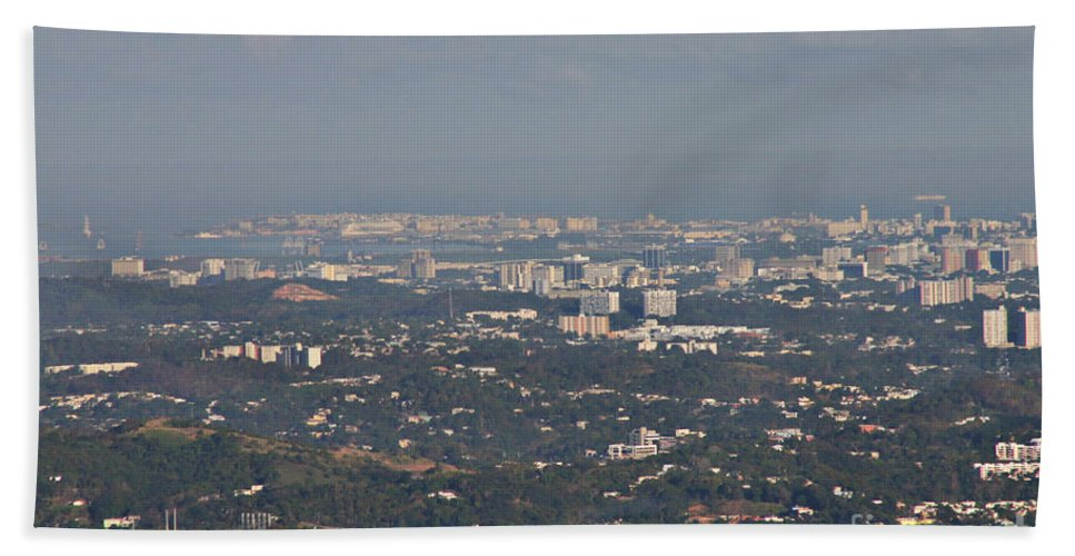San Juan Beach Towel featuring the photograph San Juan City by Gilbert