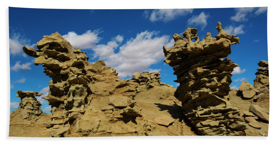 Siltstone Beach Towel featuring the photograph Sand Demons by Mike Dawson