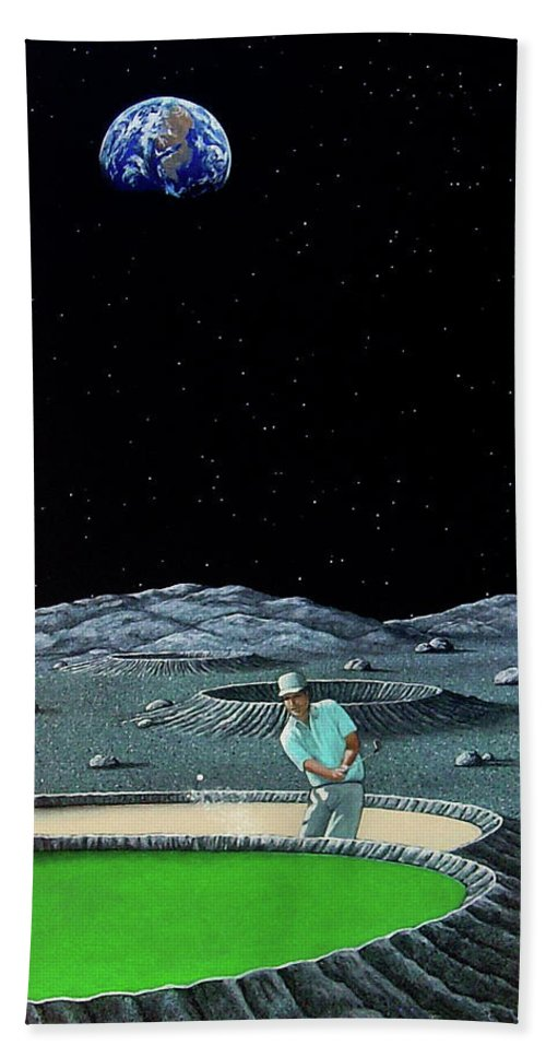 Moon Beach Towel featuring the painting Sand Trap by Snake Jagger