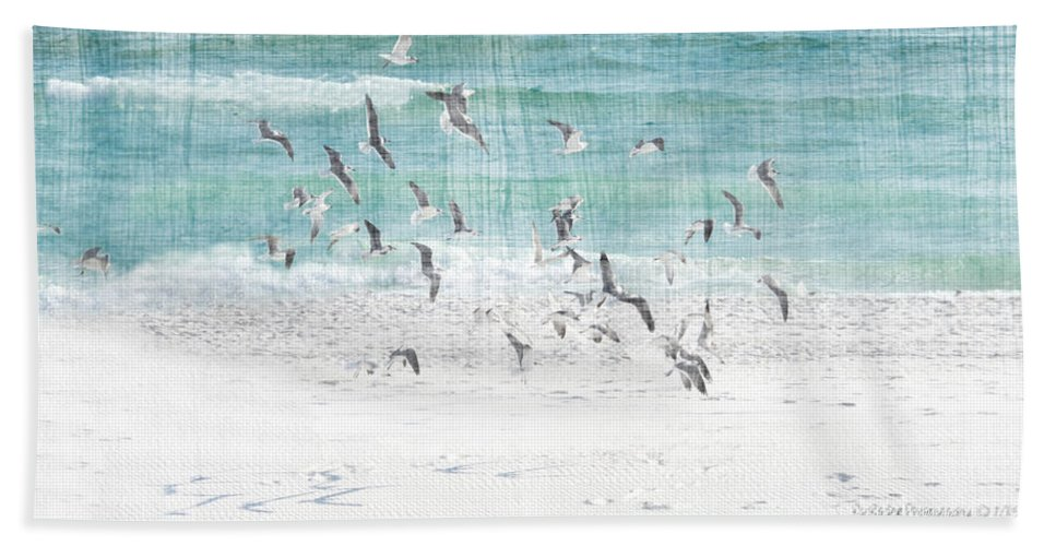 Sandestin Beach Beach Towel featuring the photograph Sandestin Seagulls E by Roe Rader