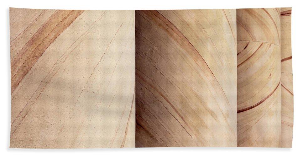 Arlington Beach Towel featuring the photograph Sandstone Columns by Janet Fikar