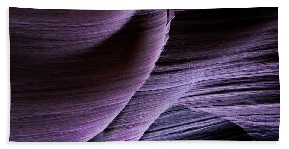Slot Beach Towel featuring the photograph Sandstone Symphony by Mike Dawson