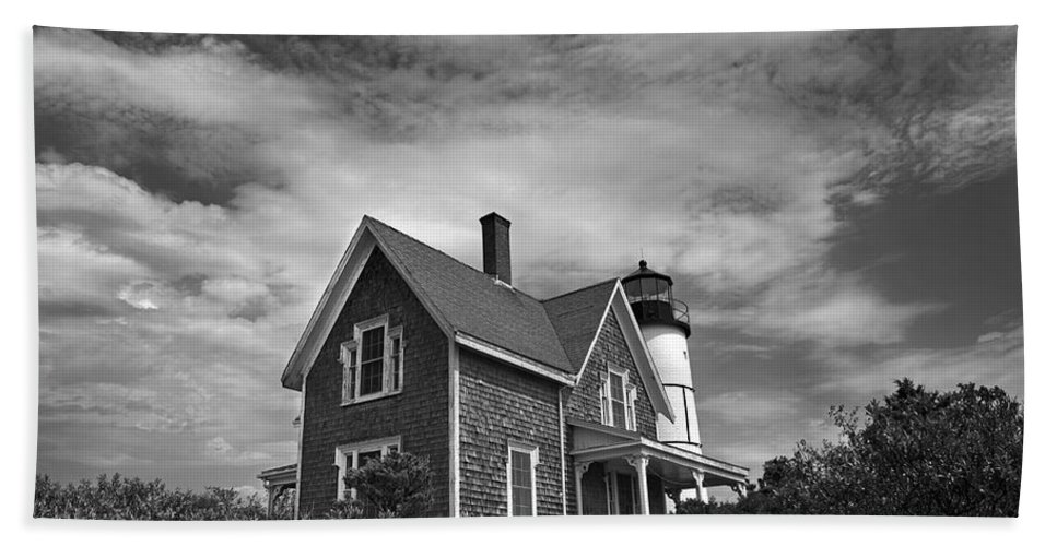 Sandy Neck Beach Towel featuring the photograph Sandy Neck Light by Charles Harden