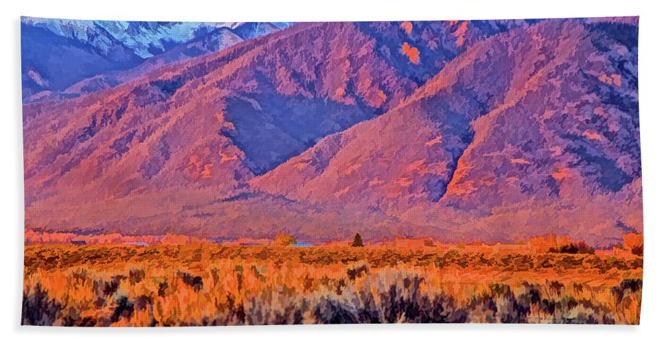 Santa Beach Towel featuring the photograph Sangre De Cristo by Charles Muhle
