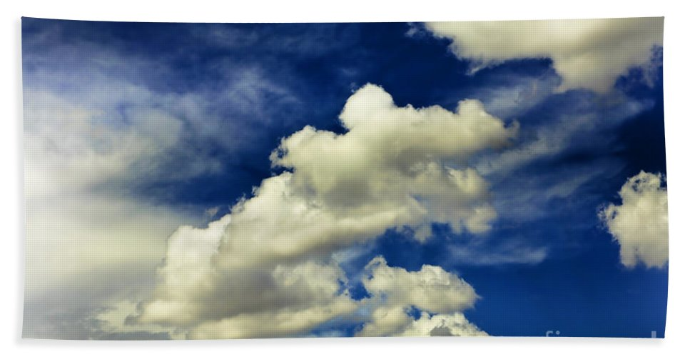 Sky Beach Towel featuring the photograph Santa Fe Clouds by Madeline Ellis
