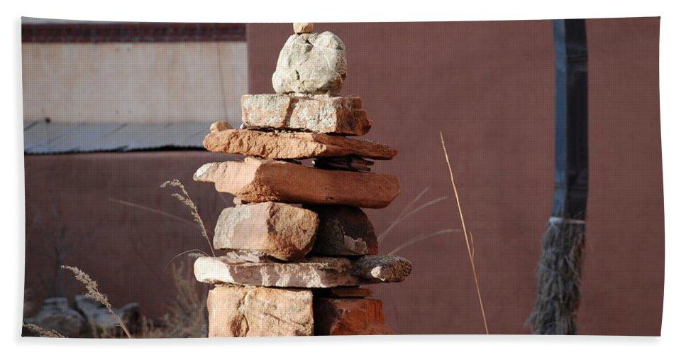 Pop Art Beach Sheet featuring the photograph Sante Fe Rocks by Rob Hans