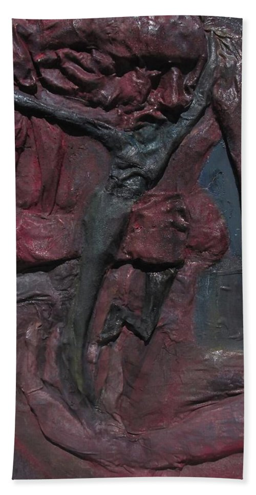 Beach Towel featuring the mixed media Sapiens by Daniele Baiamonte