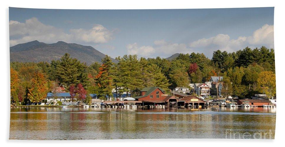Saranac Lake New York Beach Sheet featuring the photograph Saranac Lake by David Lee Thompson