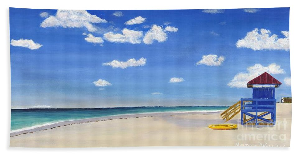 Landscape Beach Towel featuring the painting Sarasota Beach by Melissa Wallace