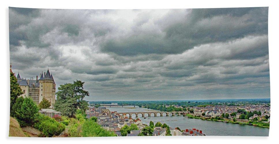 Saumur Beach Towel featuring the photograph Saumur, Chateau, Loire, France by Curt Rush
