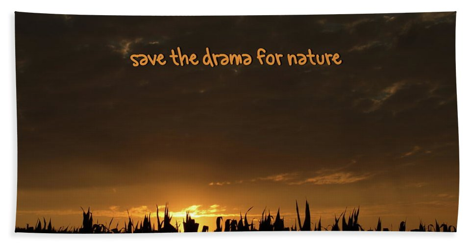 Drama Beach Towel featuring the photograph Save The Drama For Nature by Andrea Swiedler