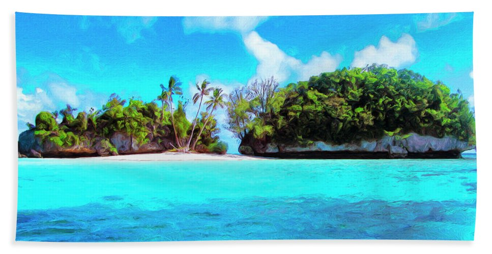 Saved Beach Towel featuring the painting Saved by Dominic Piperata