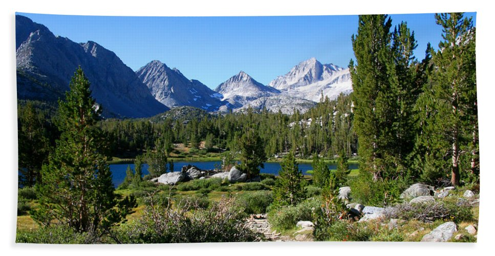 Scenic Mountain View Beach Towel featuring the photograph Scenic Mountain View by Chris Brannen