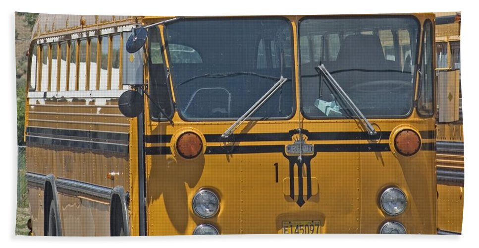 Bus Beach Towel featuring the photograph School Bus by Sara Stevenson