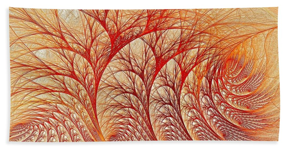 Fractal Abstract Beach Towel featuring the digital art Scorched by Doug Morgan