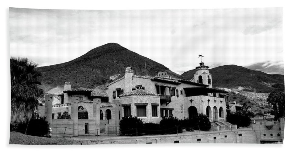 #scotty's Beach Towel featuring the photograph Scotty's Castle II by Kathleen Struckle