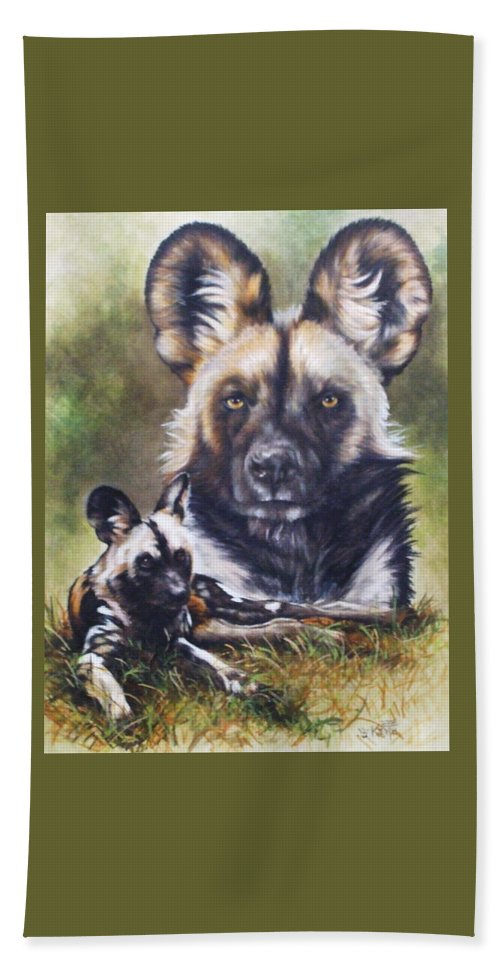 Wild Dogs Beach Sheet featuring the mixed media Scoundrel by Barbara Keith