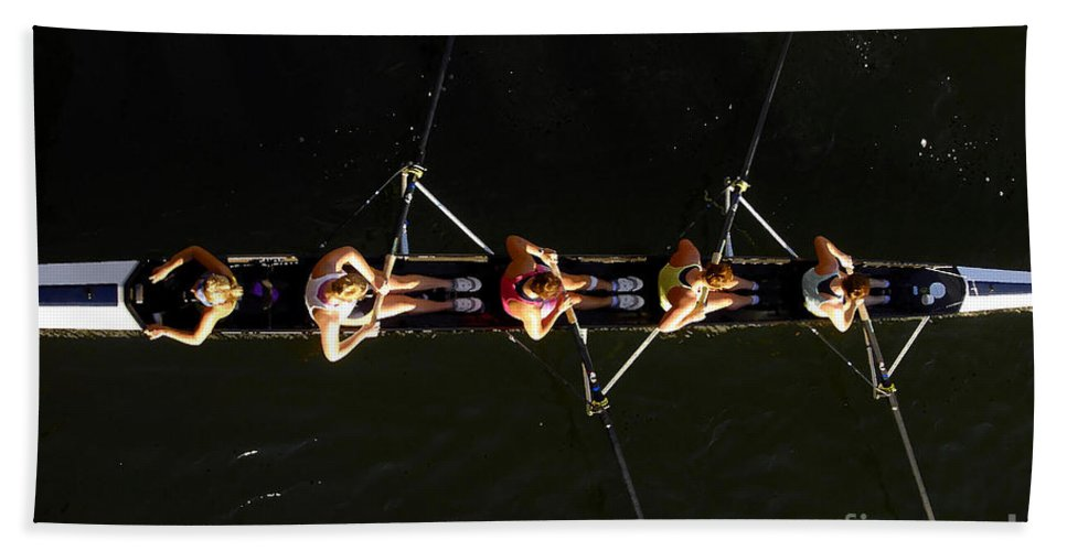 Women Beach Sheet featuring the photograph Sculling by David Lee Thompson