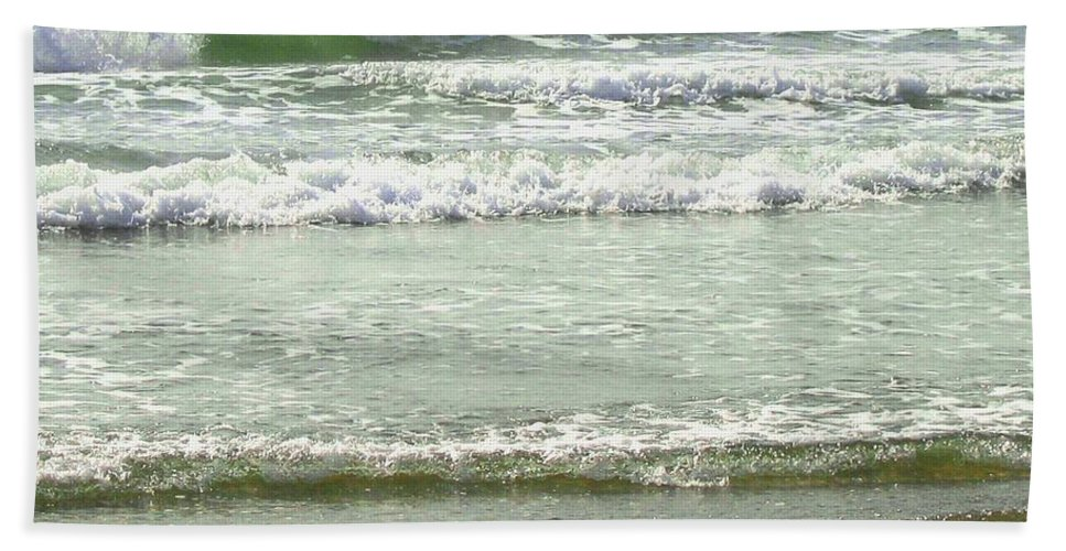 Sea Beach Towel featuring the photograph Sea Green by Will Borden
