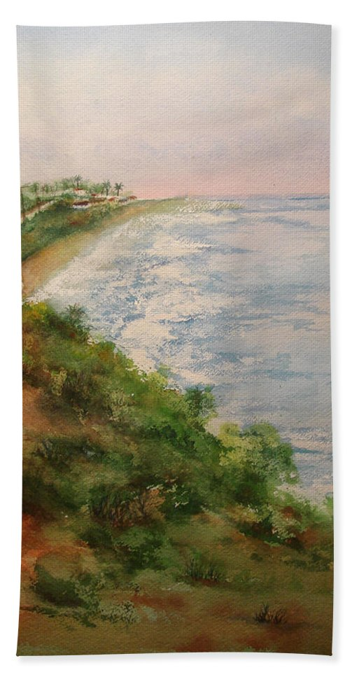 Landscape Beach Towel featuring the painting Sea Of Dreams by Debbie Lewis