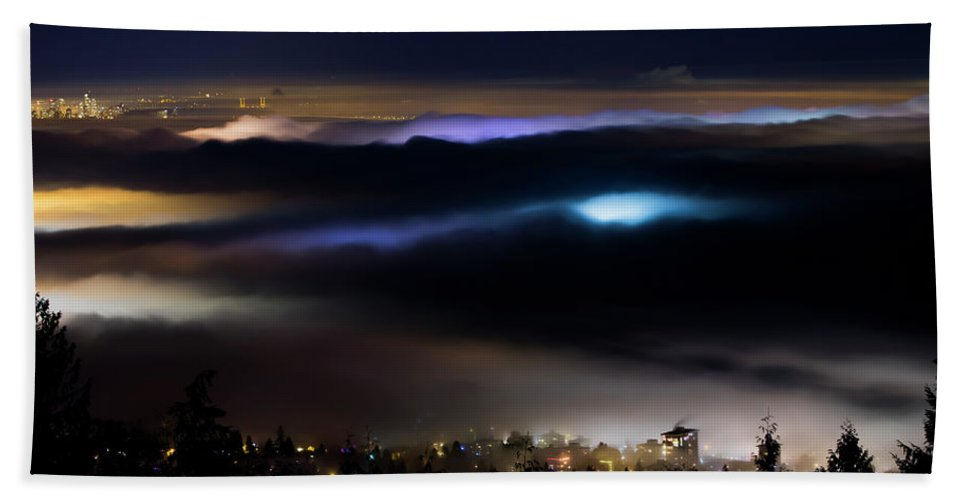 Canada Beach Sheet featuring the photograph Sea Of Fog by Windy Corduroy